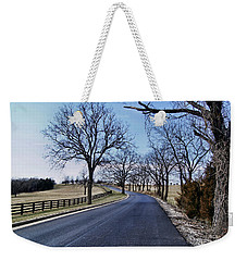 Weekender Tote Bag featuring the photograph Osage County Road by Cricket Hackmann
