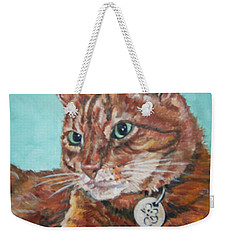 Weekender Tote Bag featuring the painting Oscar by Bryan Bustard