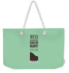 Oscar Levant Inspirational Typography Quotes Poster Weekender Tote Bag