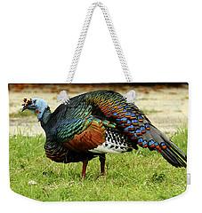Oscillated Turkey Weekender Tote Bag by Kathy McClure