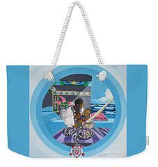 Blaa Kattproduksjoner             Osiris Feeding His Son Horus Weekender Tote Bag