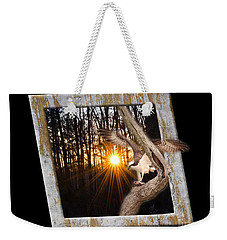 Osprey At Sunset  Black Weekender Tote Bag
