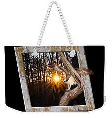 Osprey At Sunset  Black Weekender Tote Bag