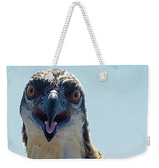 Osprey Chick Smiles For The Camera Ultra Macro Weekender Tote Bag by Jeff at JSJ Photography
