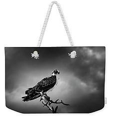 Osprey In Black And White Weekender Tote Bag