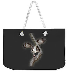 Weekender Tote Bag featuring the photograph Osprey Tee-shirt by Donna Brown