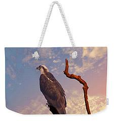 Osprey With Branch Weekender Tote Bag