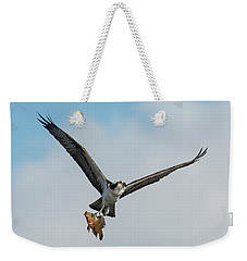Osprey With Rainbow Bass 1 Weekender Tote Bag