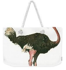 Ostrich Bird Weekender Tote Bag