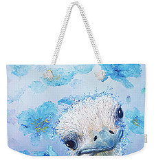 Ostrich In A Field Of Poppies Weekender Tote Bag
