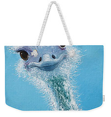 Ostrich Painting Weekender Tote Bag by Jan Matson