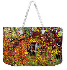 Weekender Tote Bag featuring the photograph Other Side Of The Leaves by Glenn McCarthy Art and Photography