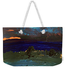 Weekender Tote Bag featuring the painting Other Worldly by Karen Nicholson