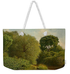 Weekender Tote Bag featuring the painting Otselic River by Wayne Daniels