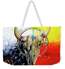 Weekender Tote Bag featuring the painting Ottawa Medicine Wheel by Ayasha Loya