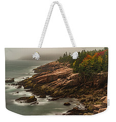Weekender Tote Bag featuring the photograph Otter Cliffs by Gary Lengyel