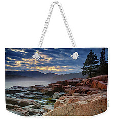 Otter Cove In The Mist Weekender Tote Bag by Rick Berk