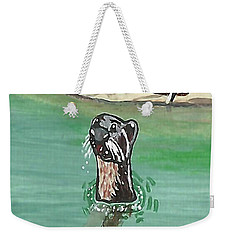 Otter In Amazon River Weekender Tote Bag