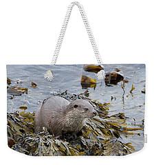 Otter On Seaweed Weekender Tote Bag