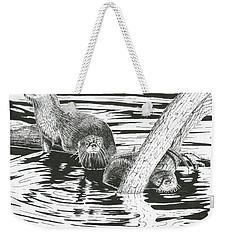 Otters Three Weekender Tote Bag