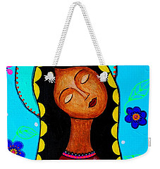 Weekender Tote Bag featuring the painting Our Lady Of Guadalupe II by Pristine Cartera Turkus