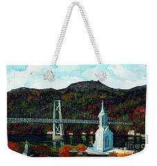 Our Lady Of Mt Carmel Church Steeple - Poughkeepsie Ny Weekender Tote Bag by Janine Riley