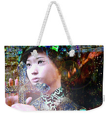 Our Lady With Cross Weekender Tote Bag