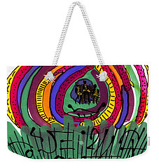 Weekender Tote Bag featuring the mixed media Our Own Colorful World II by Angela L Walker