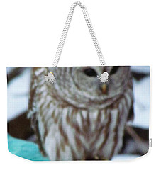 Our Own Owl Weekender Tote Bag by Betty Pieper