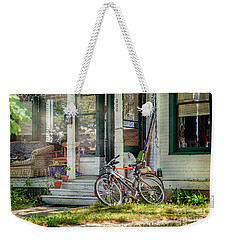 Weekender Tote Bag featuring the photograph Our Town Bicycle by Craig J Satterlee
