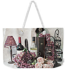 Weekender Tote Bag featuring the photograph Our Wine Cellar by Sherry Hallemeier