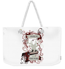 Weekender Tote Bag featuring the digital art Ours Is The Fury by Christopher Meade