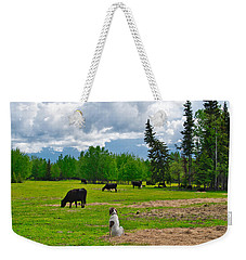 Out In The Pasture Weekender Tote Bag