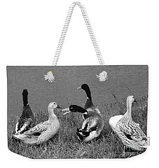 Weekender Tote Bag featuring the photograph Out Of My Way by Nareeta Martin