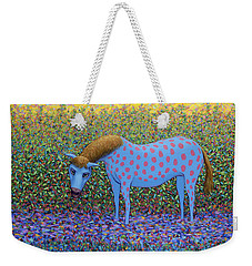Weekender Tote Bag featuring the painting Out Of The Pasture by James W Johnson
