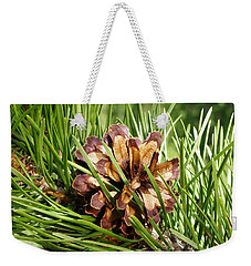Weekender Tote Bag featuring the photograph Out On A Limb by DeeLon Merritt