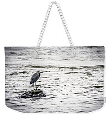 Out Standing On A Rock Weekender Tote Bag by Ray Congrove