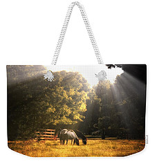 Weekender Tote Bag featuring the photograph Out To Pasture by Mark Fuller