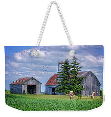Out To Pasture Weekender Tote Bag by Mary Timman