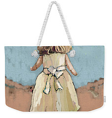 Weekender Tote Bag featuring the painting Out To Play by Carrie Joy Byrnes
