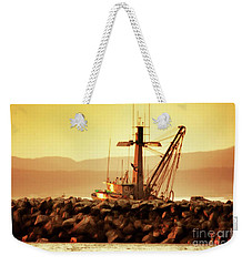 Out To Sea At Moss Landing, California Weekender Tote Bag