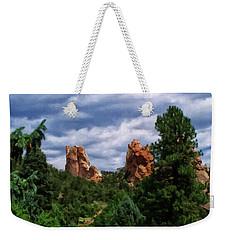 Weekender Tote Bag featuring the digital art outcroppings in Colorado Springs by Chris Flees