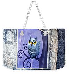 Weekender Tote Bag featuring the painting Outdoor Art Walk by Ella Kaye Dickey