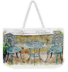 Outdoor Dining Weekender Tote Bag