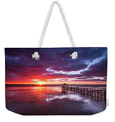 Outer Banks Duck North Carolina Sunset Seascape Photography Obx Weekender Tote Bag
