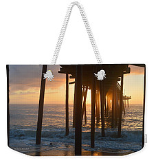 Weekender Tote Bag featuring the photograph Outer Banks Pier 7/6/18 by Barbara Ann Bell