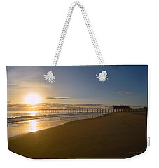 Weekender Tote Bag featuring the photograph Outer Banks Pier Sunrise by Barbara Ann Bell