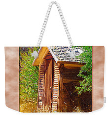 Weekender Tote Bag featuring the photograph Outhouse 1 by Susan Kinney