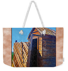 Weekender Tote Bag featuring the photograph Outhouse 2 by Susan Kinney