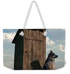 Outhouse Guardian - German Shepherd Version Weekender Tote Bag